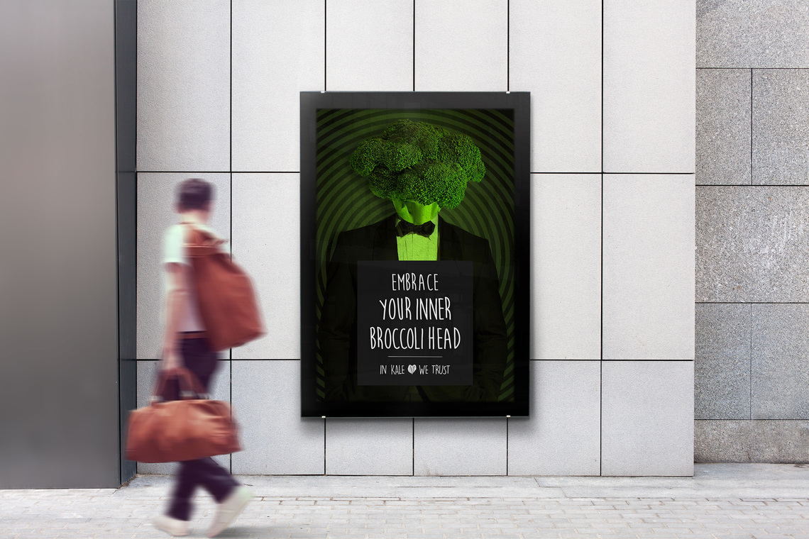 Kale poster brocoli