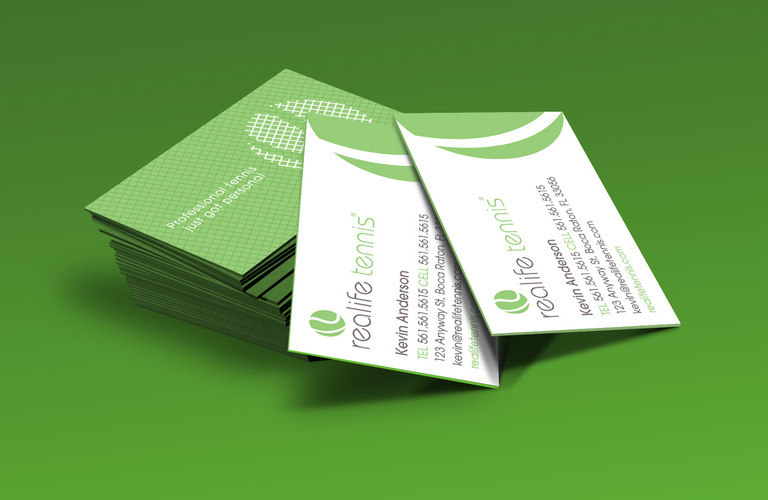 Kevin anderson tennis businesscard mockup