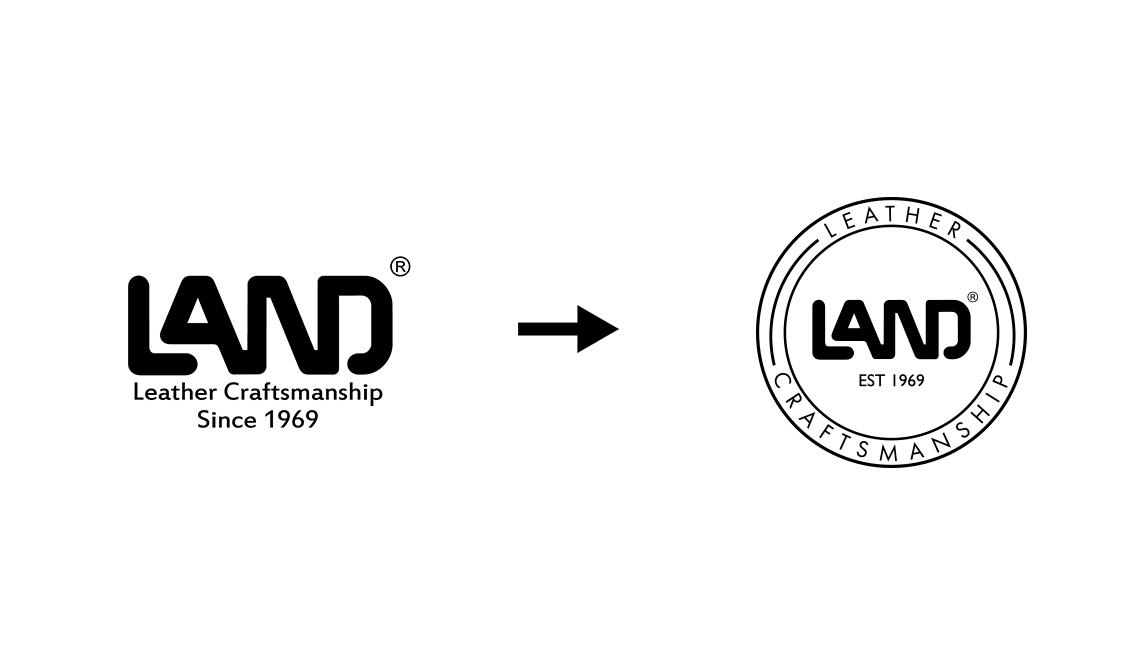 Land logo circle
